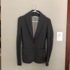 James Perse knit blazer, gray, size 1
